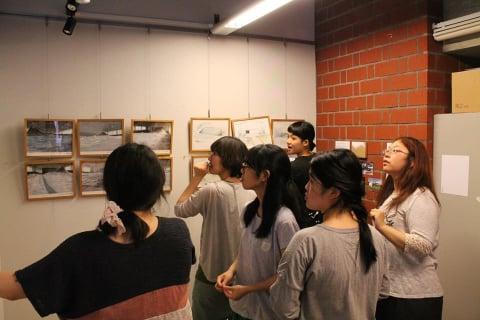 展示には研究室生が携わりました。