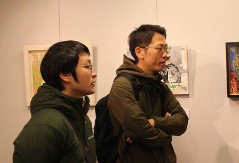 舩岳紘行先生(左)と狩野宏明先生(右)
