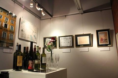 モーツァルトにまつわるワインも展示